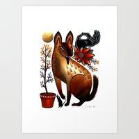 Autumn Desert Art Print