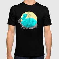 hypnotic rabbit Mens Fitted Tee Black SMALL
