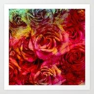 Roses Passion Art Print