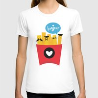 french T-shirts featuring French Fries by Reg Silva / Wedgienet.net
