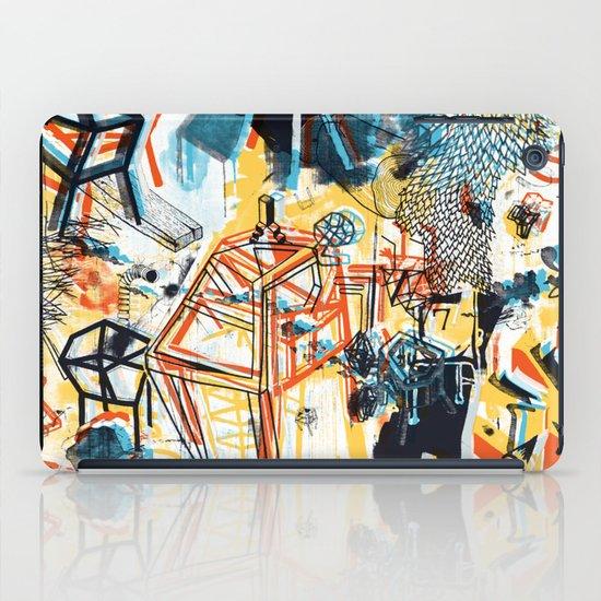 yellowredblueandblack iPad Case