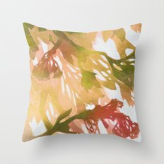 Morning Blossoms 2 - Olive Variation Throw Pillow