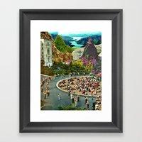City Center Framed Art Print