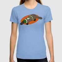Platypus Womens Fitted Tee Tri-Blue SMALL