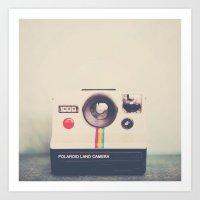 portrait of a polaroid ...  Art Print