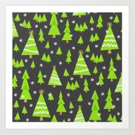 Art Print featuring Jolly Forest by Robyriker