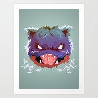 Raging Blastoise Art Print