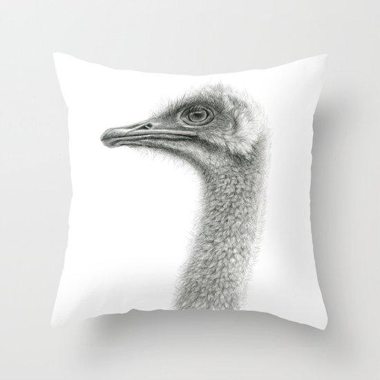Cute Ostrich Profile SK054 Throw Pillow