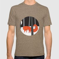 Winter Fox Vertical Mens Fitted Tee Tri-Coffee SMALL