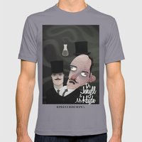 Jekyll And Hyde Mens Fitted Tee Slate SMALL