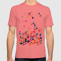 Falling Into Place Mens Fitted Tee Pomegranate SMALL