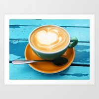 Latte coffee Art Print