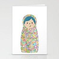 Rainbow Matryoshka Nesti… Stationery Cards