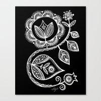 White Flower 15 Canvas Print