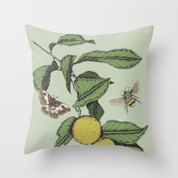 Lemons in Spring Throw Pillow