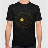 Moon And Stars Dream Mens Fitted Tee Tri-Black 2X-LARGE
