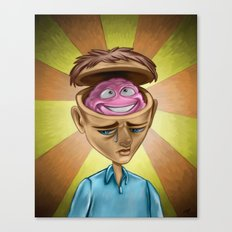 Happy Brain Canvas Print