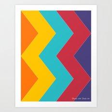 Chevron Chic  Art Print