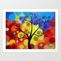 Abstract Tree 6 Art Print