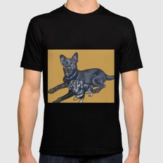 Lincoln and Zelda SMALL Black Mens Fitted Tee