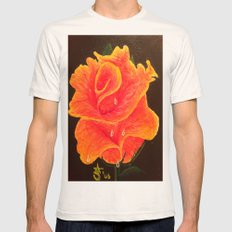 Orange Dream Rose In Acr… Mens Fitted Tee Natural SMALL