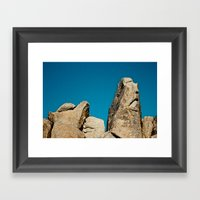 Sad Rock Framed Art Print
