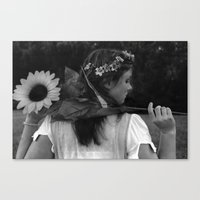 Not a Care Canvas Print