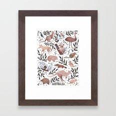 Animals of Australia Field Guide Framed Art Print