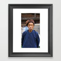 Long-Skirt Miao minority in China Framed Art Print