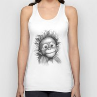Monkey - Baby Orang Outa… Unisex Tank Top