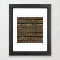Framed Art Print featuring Rough Wooden Planks by MehrFarbeimLeben