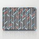 Herringbone Black and Blue #2 iPad Case