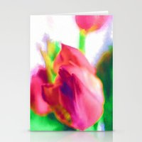 Harborough Tulips - Wate… Stationery Cards
