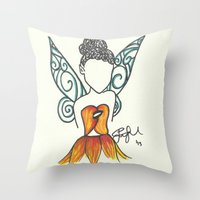Iridessa Zen Tangle Throw Pillow