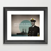 Battleship Framed Art Print