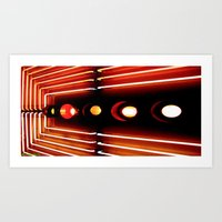 Elastic Neon part 3(left) Art Print