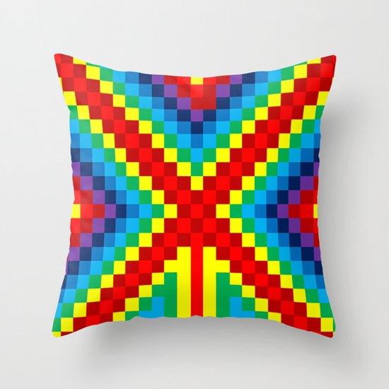 Fuzz Line #4 Throw Pillow