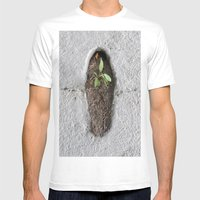 GREEN-1 Mens Fitted Tee White SMALL