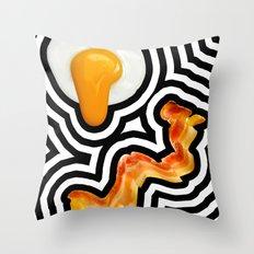 Bacon & Eggs Throw Pillow