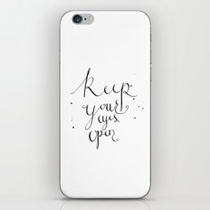 keep your eyes open iPhone & iPod Skin