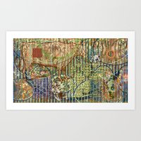Driving Out Miss Martine… Art Print