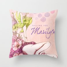 Falling for Marilyn Throw Pillow