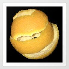 Ultimate Orange Peel Art Print