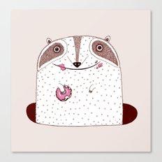 Doughnut eater Canvas Print