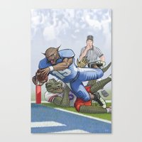 Wildcats versus Gators Canvas Print