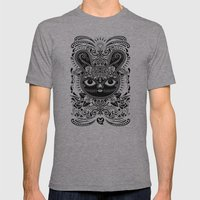 Day Of The Dead Bunny Celebration Mens Fitted Tee Athletic Grey SMALL