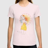 Pin-Up  Womens Fitted Tee Light Pink SMALL