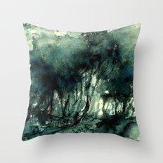 mürekkeple orman Throw Pillow