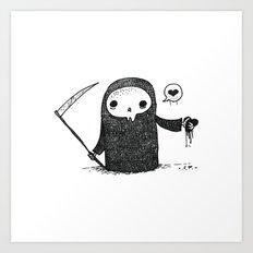Valentines Day Reaper Art Print