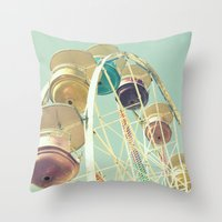 Pastel Ferris Wheel Throw Pillow